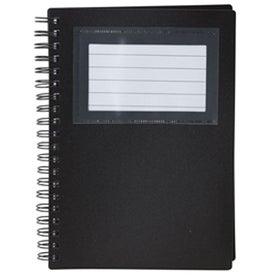 Imprinted Business Card Holder Notepad