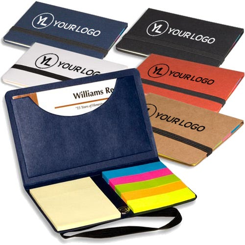 Promotional business card sticky packs with custom logo for 059 ea black business card sticky pack with your slogan colourmoves