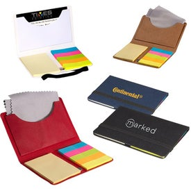 Business Card Sticky Pack with Microfiber Cloth