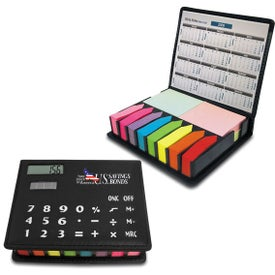 Calculator Flag Note Branded with Your Logo