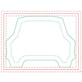 "Car BIC Ecolutions Adhesive Die Cut Notepad (4"" x 3"", 100 Sheets)"