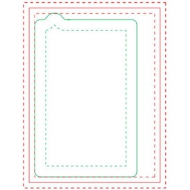 """Cell Phone BIC Ecolutions Adhesive Die Cut Notepad (4"""" x 3"""", 100 Sheets)"""