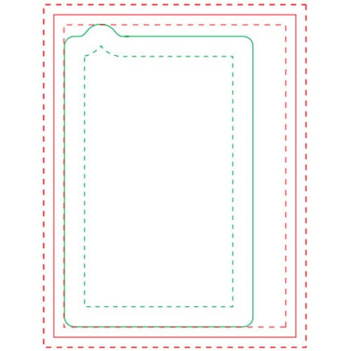 White Cell Phone BIC Ecolutions Adhesive Die Cut Notepad