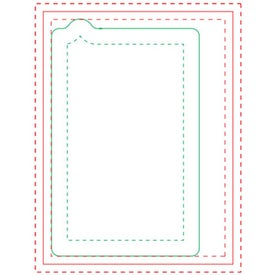 Cell Phone Adhesive Sticky Note Pads (Medium, 25 Sheets)