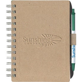 Chipboard Notebook with Recycled Fiber Branded with Your Logo