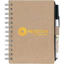 Advertising Chipboard Notebook with Recycled Fiber