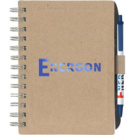 Chipboard Notebook with Recycled Fiber for Your Company