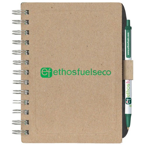 Chipboard Notebook with Recycled Fiber