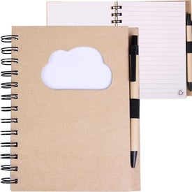 EcoShapes Recycled Die Cut Notebook for Promotion