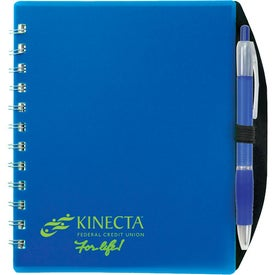 Color Block Notebook with Your Slogan
