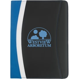 Color Curve Padfolio with Your Slogan