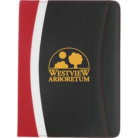 Promotional Color Curve Padfolio