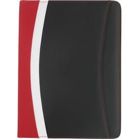 Color Curve Padfolio Printed with Your Logo