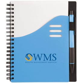 Color Wave Notebook for Advertising