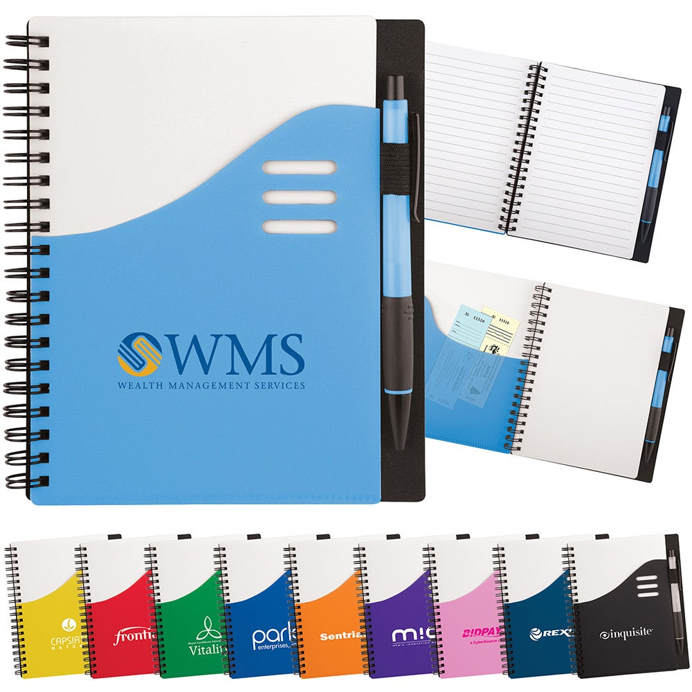 click here to order color wave notebooks printed with your