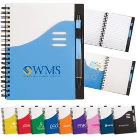 Imprinted Color Wave Notebook