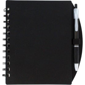 Color Block Notebook and Sticky Note Combo Branded with Your Logo