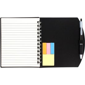 Printed Color Block Notebook and Sticky Note Combo
