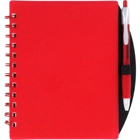 Custom Color Block Notebook and Sticky Note Combo