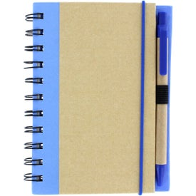 Personalized Color Edge Eco Journal and Sticky Note Combo
