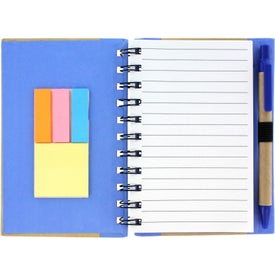 Color Edge Eco Journal and Sticky Note Combo for Your Company