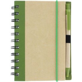 Monogrammed Color Edge Eco Journal and Sticky Note Combo