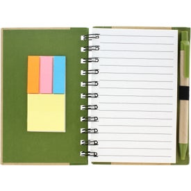 Company Color Edge Eco Journal and Sticky Note Combo