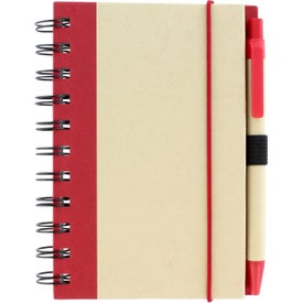 Promotional Color Edge Eco Journal and Sticky Note Combo