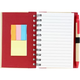 Branded Color Edge Eco Journal and Sticky Note Combo