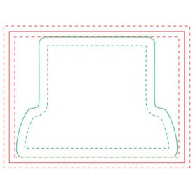 """Computer BIC Ecolutions Adhesive Die Cut Notepad (4"""" x 3"""", 100 Sheets)"""