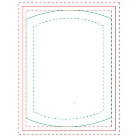 "Cylinder BIC Ecolutions Adhesive Die Cut Notepad (100 Sheets, 3.755"" x 2.737"")"