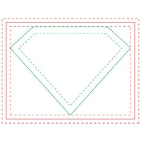 Diamond Adhesive Sticky Note Pads (Medium, 100 Sheets)