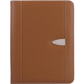 Eclipse Bonded Leather Portfolio with Calculator Branded with Your Logo