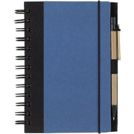 Personalized Eco-friendly Spiral Notebook and Pen