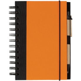 Eco-friendly Spiral Notebook and Pen for Marketing
