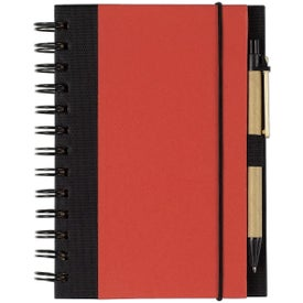Eco-friendly Spiral Notebook and Pen Printed with Your Logo