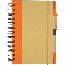 Branded Eco-friendly Spiral Notebook and Pen