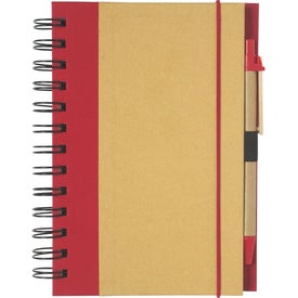 Imprinted Eco-friendly Spiral Notebook and Pen