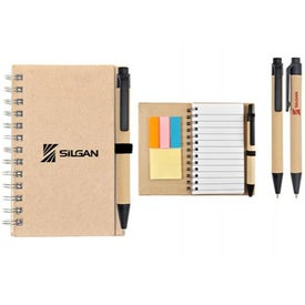 Eco Jotter and Sticky Note Combo Branded with Your Logo