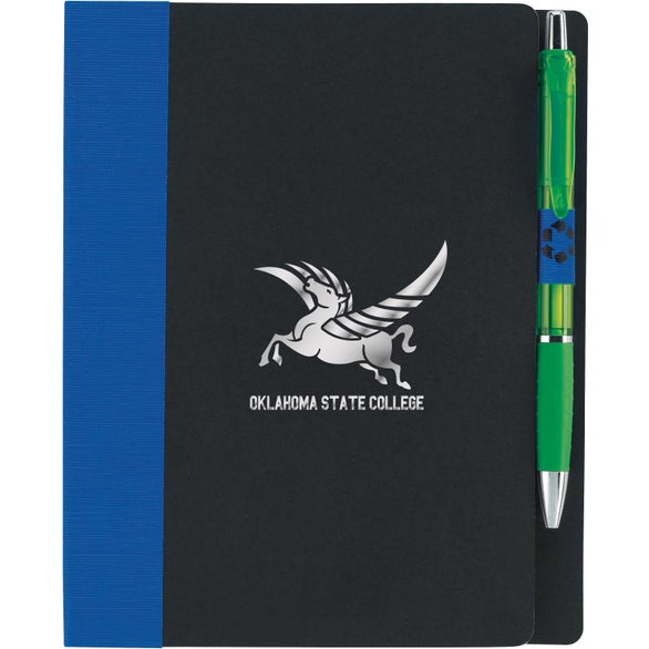 Blue / Black Eco Notebook With Flags
