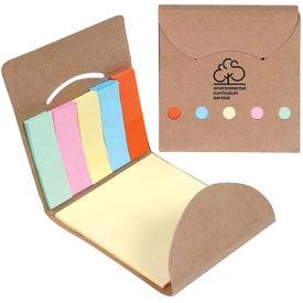 Eco Pocket Sticky Memo Book for Your Organization