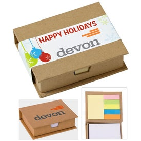 Eco-Recycled Memo Case with Sticky Notes (330 Sheets)