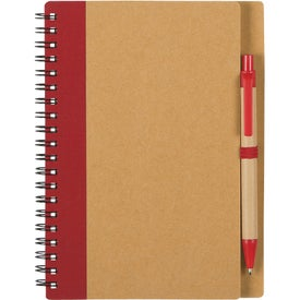 Eco Spiral Notebook & Pen for Promotion