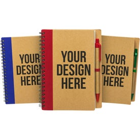 Monogrammed Eco Spiral Notebook & Pen