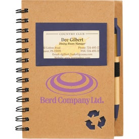 Eco Star Notebook and Pen Printed with Your Logo