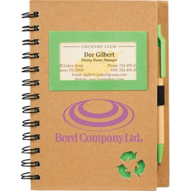 Promotional Eco Star Notebook and Pen