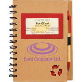Customized Eco Star Notebook and Pen