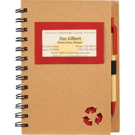 Eco Star Notebook and Pen Giveaways