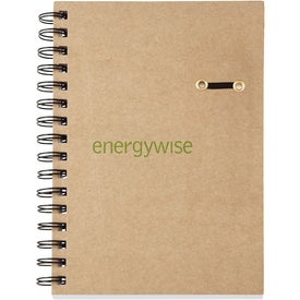 Printed Eco Hard Cover Spiral Notebook