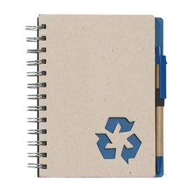 Logo Eco Rich Spiral Notebook and Pen